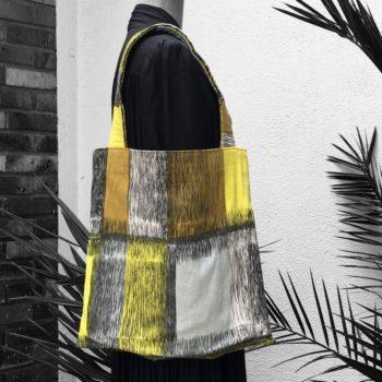 Baltique sac de courses en toile porté épaule avec anses en tissu