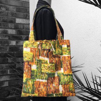 Mycène sac shopping fait main création originale pièce unique